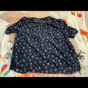 Jcrew sheer blouse